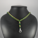 Green and Gold Badge Lanyard by Tarliman