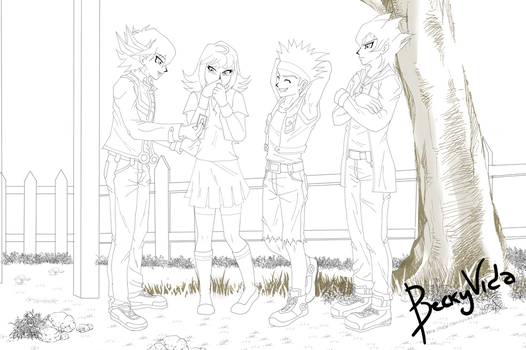 [Lineart]YGO 5Ds Keitha's Memories - First Contact by BeckyVida