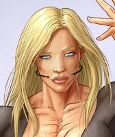 Ultrawoman cropped face by LovBlondGirlMuscled