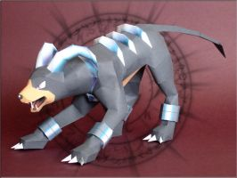 Houndoom Papercraft by Skele-kitty