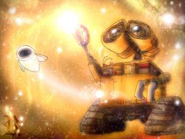 Wall.E and stars by rebenke