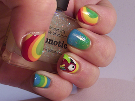 Parrot with water marble and gradients by Ithfifi