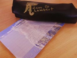 Adam Lambert pencil case and timetable by KittiN15