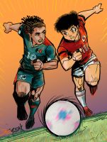 La seleccion azteca vs captain Tsubasa by jorgebreak