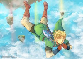 Link, Skyloft Jump - Collab by blast21