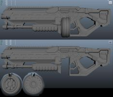 SciFi Shotgun WIP by ravital