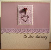 Handmade Anniversary Card by haz-elf