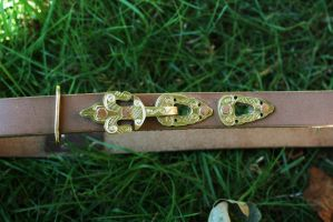 Celtic Germanic belt by Dewfooter