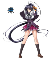 [HighSchool DxD] Himejima Akeno Render by shadowmilez