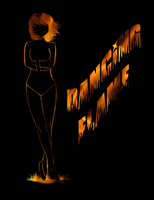 Dancing Flame Poster (Commission) by FlashyFashionFraud