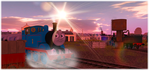 Morning on CGI Sodor by DarthAssassin