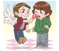SPN Commission: Gabe Shares by GI-Ace