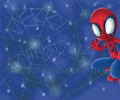 Merry Christmas from spidey by OrangeBlueCream