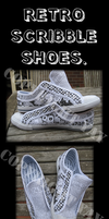 Retro Scribble Shoes by howliewolf