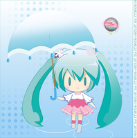Miku Umbrella Vector by Franshui