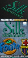 Silk Embroidery Effect Photoshop Action by GraphicAssets
