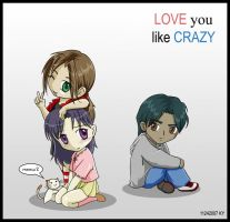 Love You Like Crazy Chibis by Paramnesia