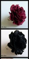Leather Rose Ring by AdLuna