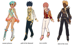 ADOPTABLES SET 1 : FIGURE SKATERS [CLOSED] by CARPFISH
