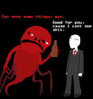 Slenderman and Red walk into a bar... by LeadToast