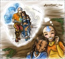 ATLA --Parallel-- KataAang dreams by Lucithea