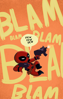 Kid-Deadpool by BoukenRed