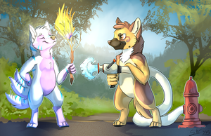 Fire Fighting by BlindCoyote