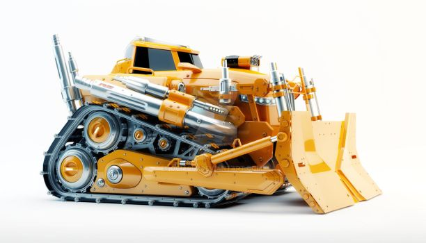Cool bulldozer by Ociacia