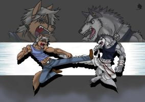 Wolf VS Wolf by supermasterbeast