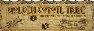 Banner - Golden Coyotl Tribe by Riarious