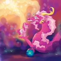 Pinkie Pie's Dragon by Bedupolker