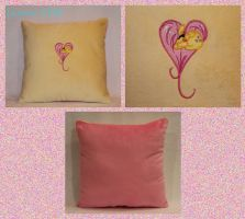 Fluttershy Heart Pillow by Yukizeal