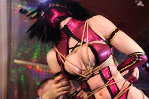 Cosplay Mileena Mortal Combat 9,Shibari, the aesth by AsherWarr