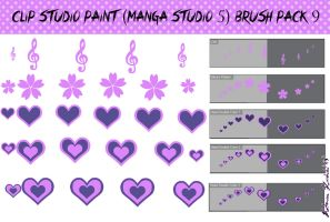 Clip Studio Paint (Manga Studio 5) Brush Pack 9 by Katarina-Kirishiki