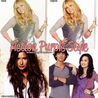 + action purple style by withmusicinmyheart