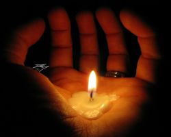 Hand Candle by Murphoto