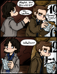 Commission - SPN - Bitty Brooze Bros by caycowa