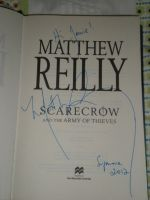 Matthew Reilly. Signed. My. Book... by Royal-Dragon