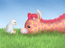 Webkinz Googles and Blossom Giraffe by R3dRulez