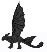 Updated Toothless reference by Toriroz