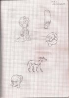 Simpson Sketches 1 by TheRainbowRockstar
