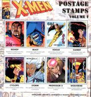 Marvel Mongolia Postage Stamps by BroHawk