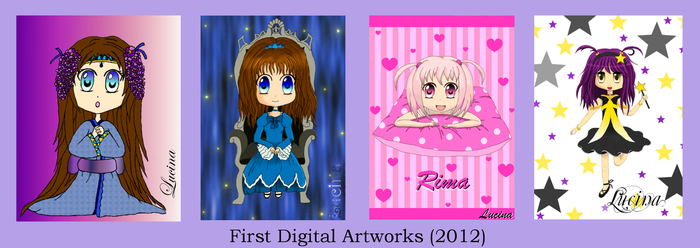 First Digital Drawings by Lucina-Waterbell