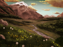 The Valley At Dusk by MykeGreywolf
