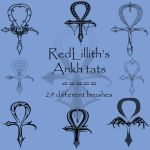 RedLillith's Ankh tats by rL-Brushes