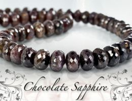 Chocolate Sapphires by BeadsofCambay