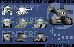Hank the Tank - Model Sheet by d4nace