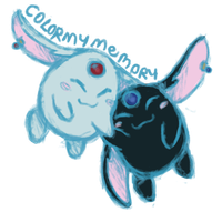 Mokona and Mokona (sketch color) by colormymemory