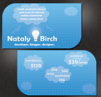 Cloud Business Card by NatalyBirch