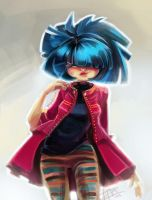 [PM2013] Blue hair fashion by papelmarfil